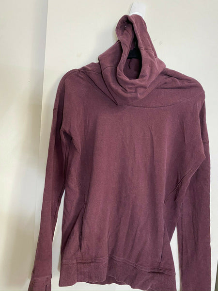LULULEMON Womens Red Brown Long Sleeves Stylish Sweaters Size: 4