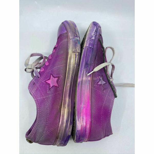 Converse Sneakers Customized with Purple Blue Graffiti Women's Size 9.5