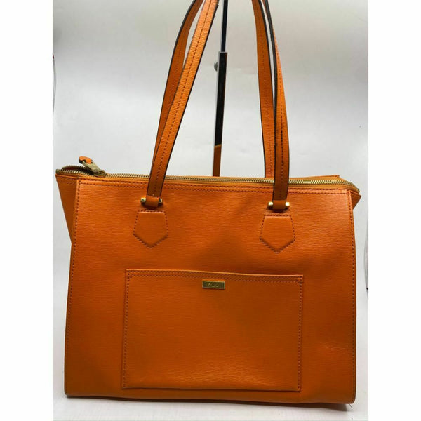 Lauren Ralph Lauren Orange Large Leather Shoulder Bag