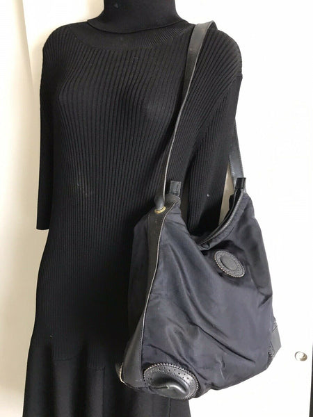 FENDI Vintage Black Nylon Tote Bag