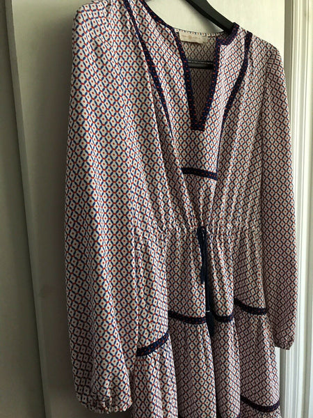 TORY BURCH Printed Bohemian Dress Msrp $490
