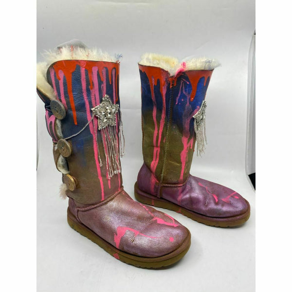 UGG Customized W/ Purple Pink Blue Trailblazer Graffiti Winter Boots