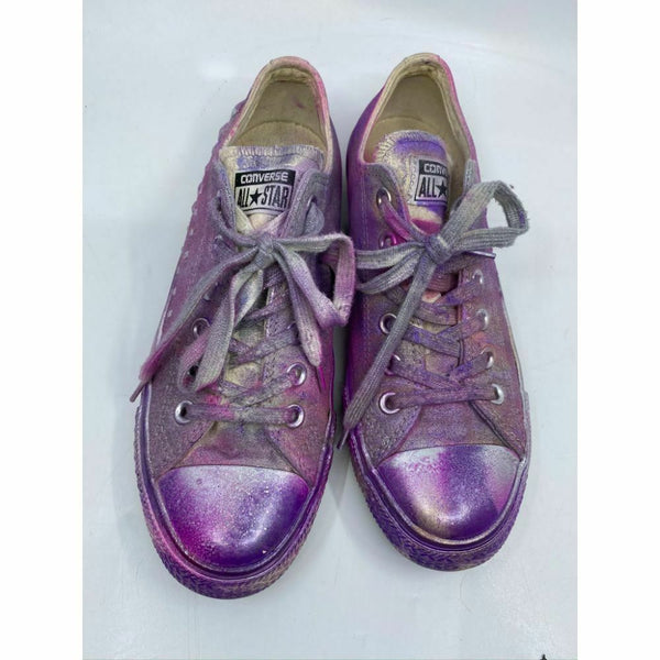 Converse Sneakers Customized with Purple Pink Graffiti Women's Size 8.5