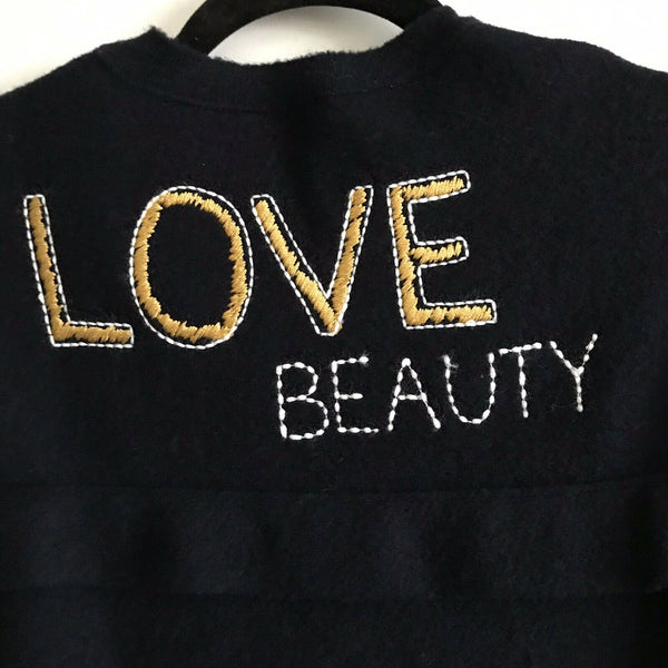 NWT! RED VALENTINO Over Sized Love beauty Sweater Msrp $990