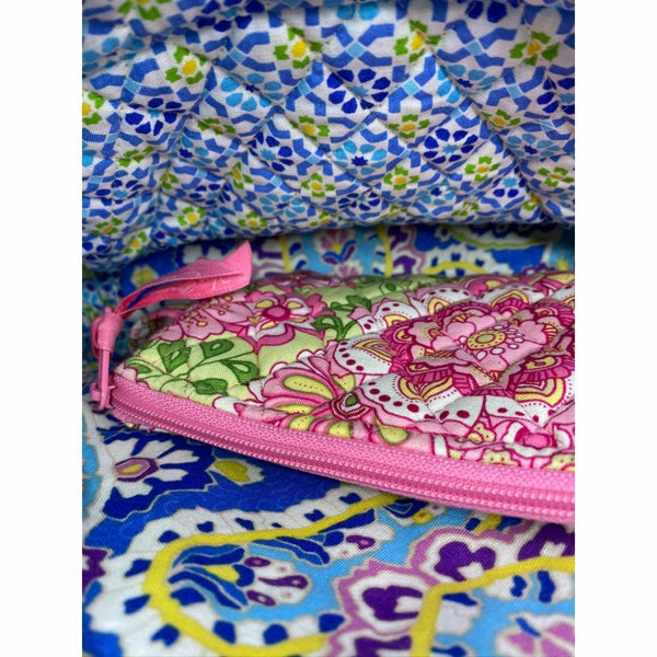 NWT! Vera Bradley Quilted Bag Customized and be dazzled w Wallet