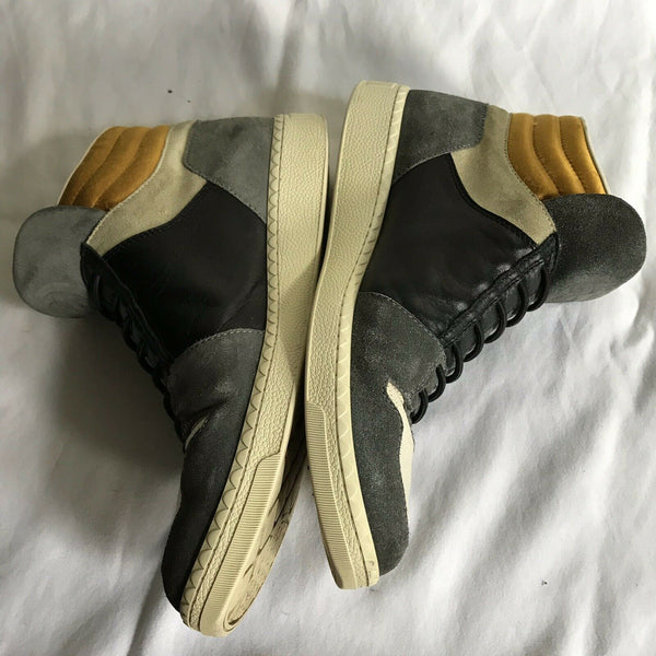 GUCCI Multi Color Suede High Cut Sneakers Size 9