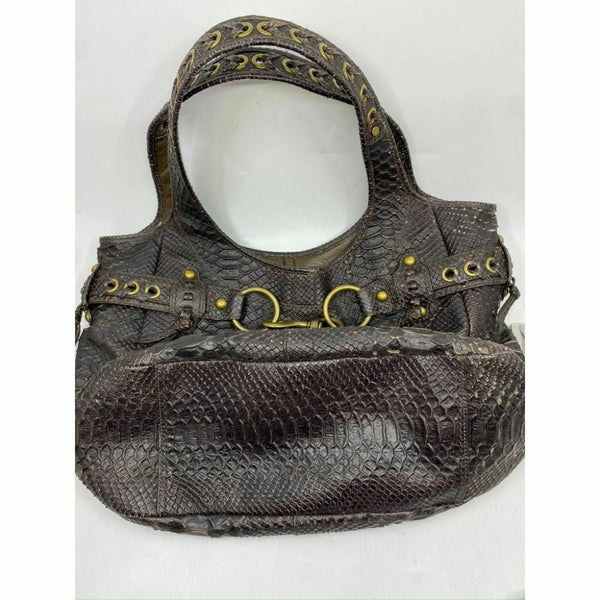 COACH XL Rare Python Print Leather Shoulder Bag Msrp $500