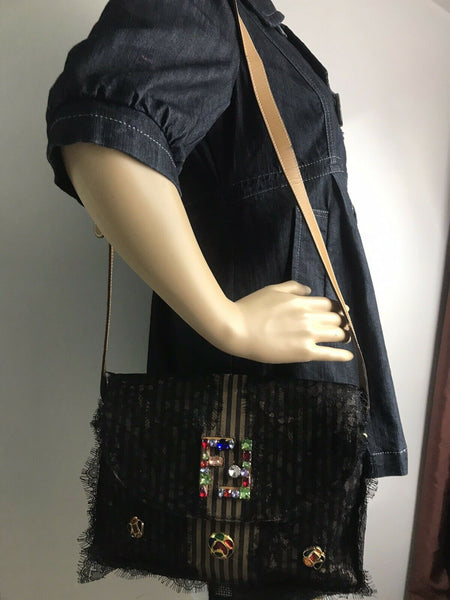 FENDI Vintage Customized Crossbody W/ Rhinestones
