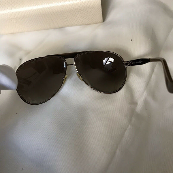 Authentic Jimmy Choo Dominique/S 000/JO Goldtone Sunglasses Made in Italy +Case