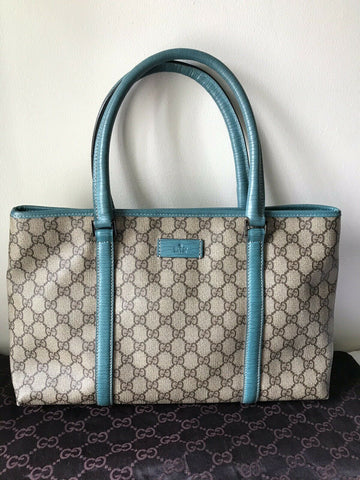 GUCCI All Over Logo Coated Canvas Shoppers Tote Msrp $1,800