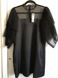NWT! GRACIA Black Dress W/ Puff Sleeves