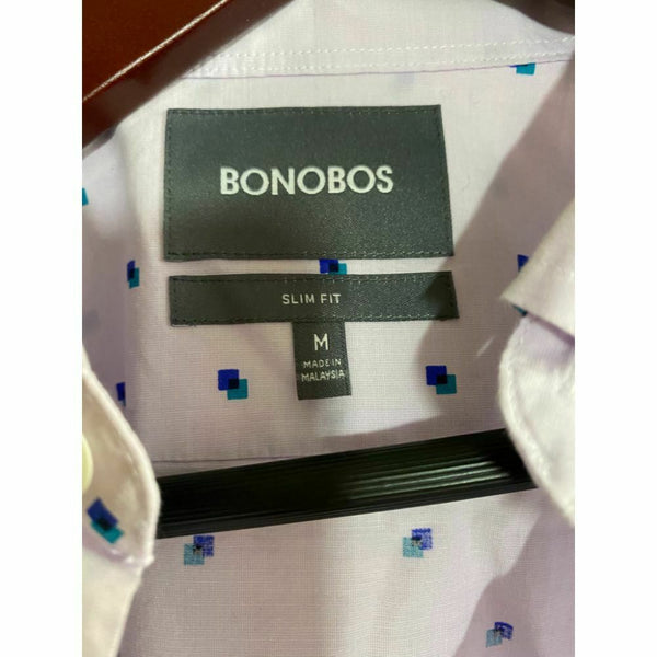 BONOBOS Pink Blue Printed Long Sleeve Button Down Shirt Size M