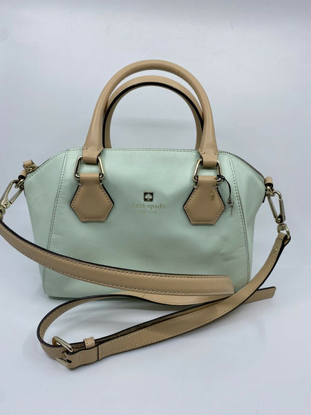 Kate Spade Green leather  Trapeze Bag W Crossbody