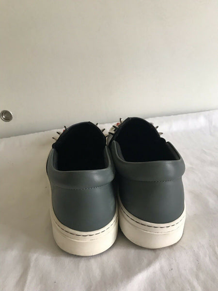 Fendi Studded Monster Face Slip On Sneakers
