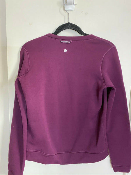 LULULEMON Womens Purple Long Sleeves Stylish Sweaters Size: 4