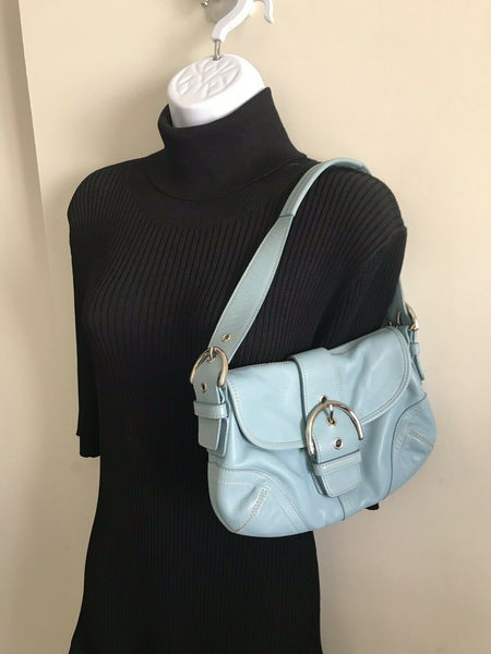 COACH Blue Leather Hangbag