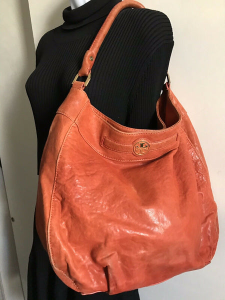 TORY BURCH Orange/Brown Leather Hobo bag
