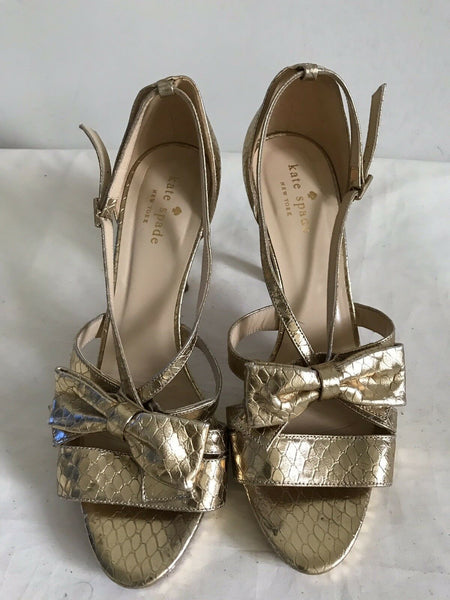 KATE SPADE Gold High heels Size 7.5