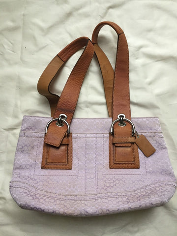 COACH Lavander Canvas Medium Tote