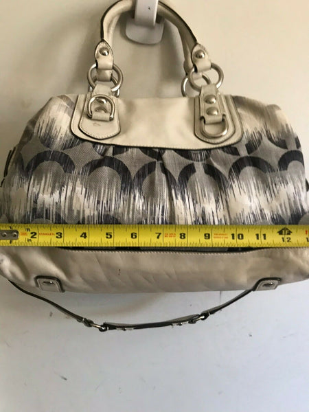 COACH Medium Interwoven Jacquard Bag - White