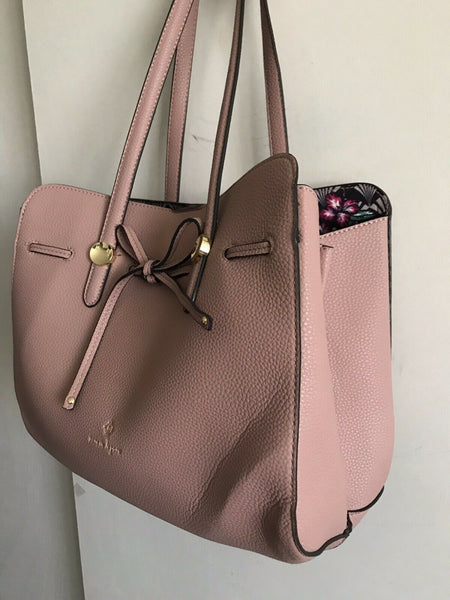 NANETTE LEPORE Large Leather Dusty Pink Handle Bag Tote