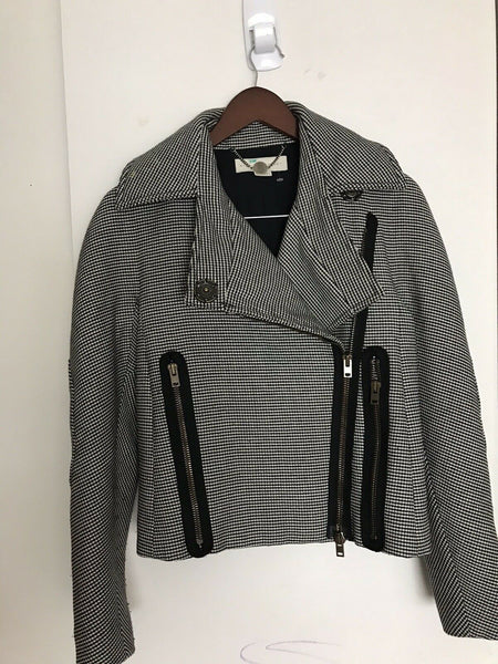 STELLA McCartney Houndstooth Bomber Jacket US Sz Small