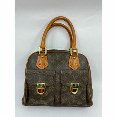 Louis Vuitton Manhattan PM Brown Tote Handbag
