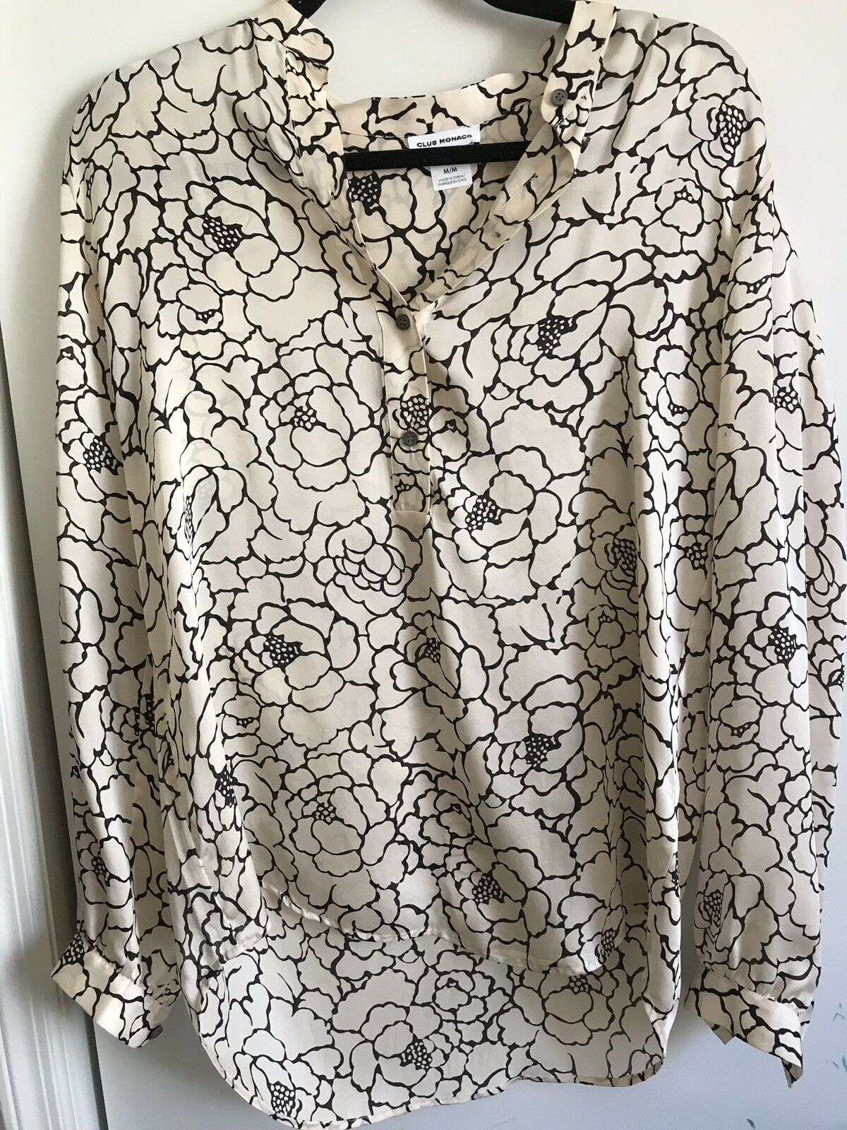 CLUB MONACO Printed Flowy Top Medium