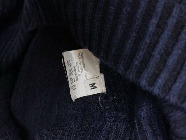 YVES SAINT LAURENT Men's Navy Cashmere Sweater Medium