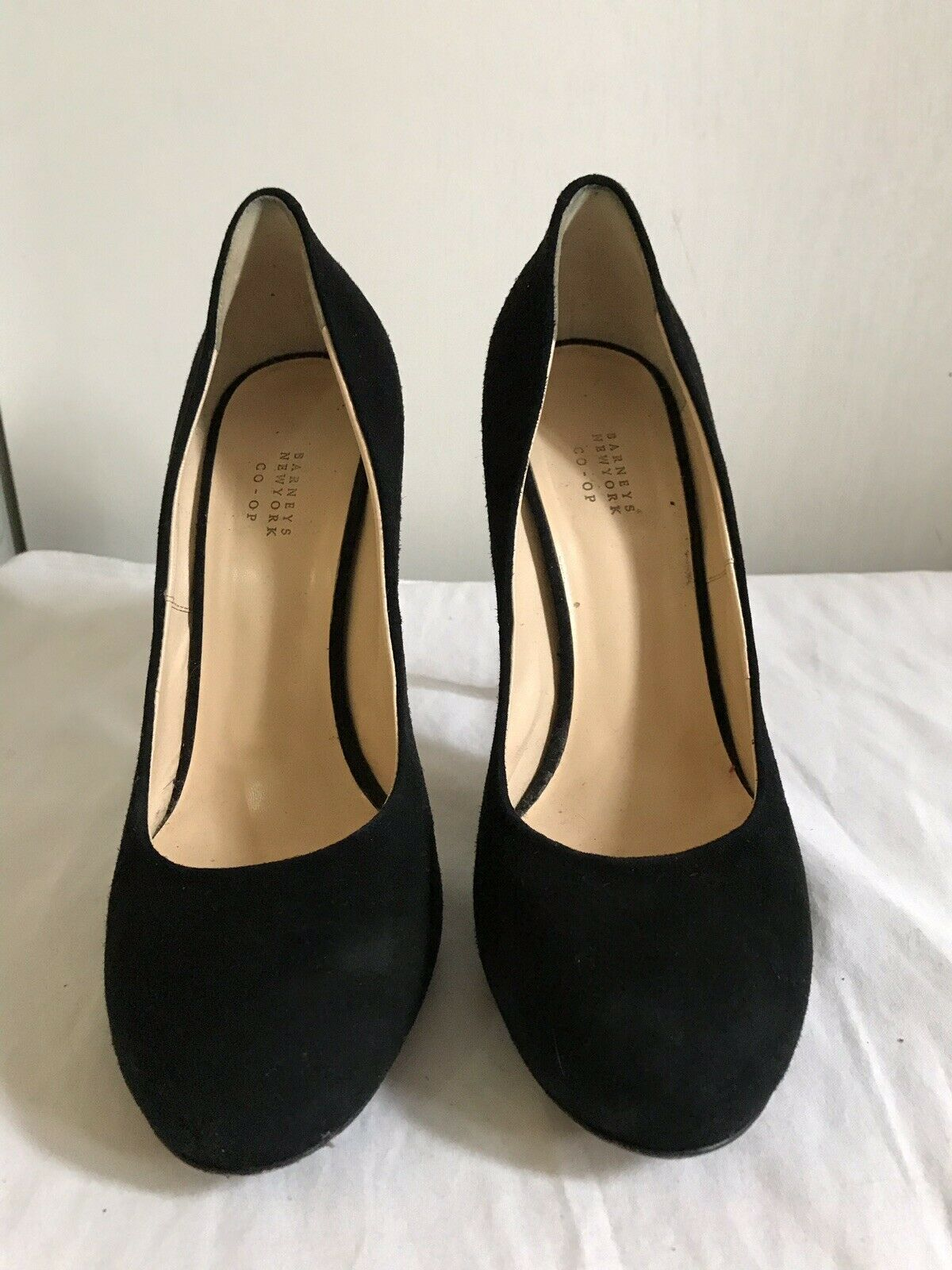 BARNEY'S New york Black Suede high Heels Sz 9