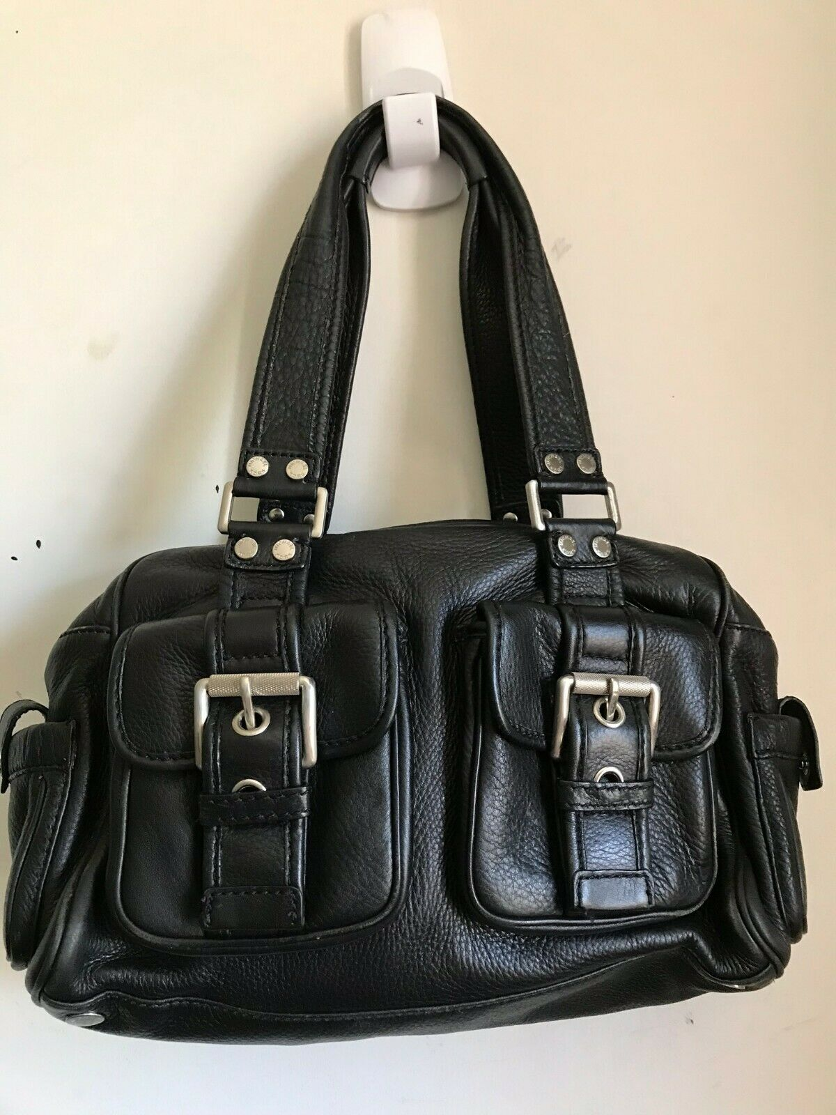 Michael Kors Medium Leather Tote Shoulder Bag - Black