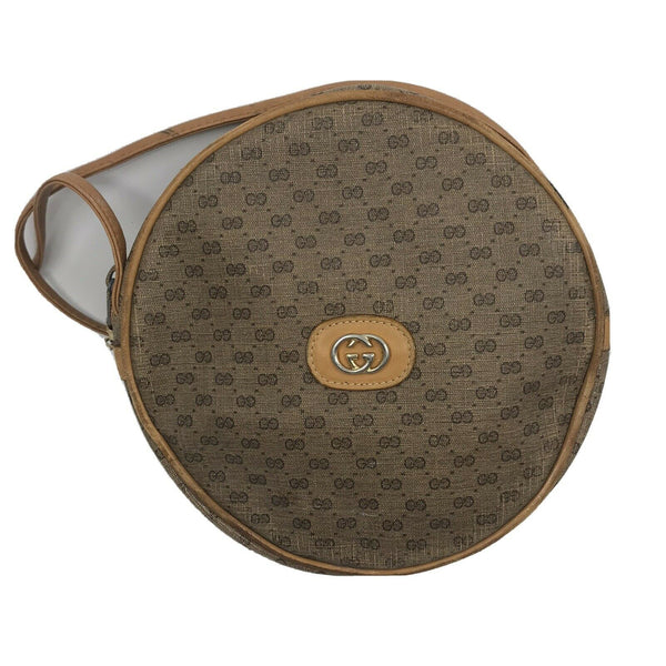 GUCCI Vintage Brown Shoulder Bag All Over Signature