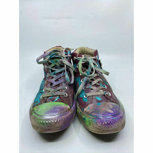 Converse Sneakers Customized with Multicolor Graffiti embellishment Women's 10.5