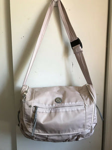 LULULEMON Pink Large Nylon Messenger Style Crossbody