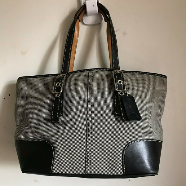 Coach Fabric/Leather Tote