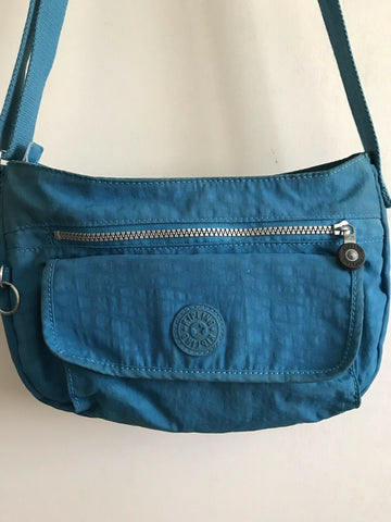KIPLING Small Bright Blue Nylon Crossbody Bag
