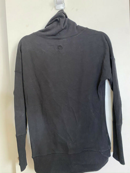 LULULEMON Womens Black Long Sleeves Stylish Sweaters Size: 4