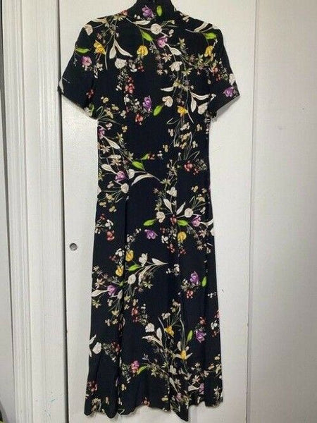 nicole miller black and multicolor new msrp long formal dress