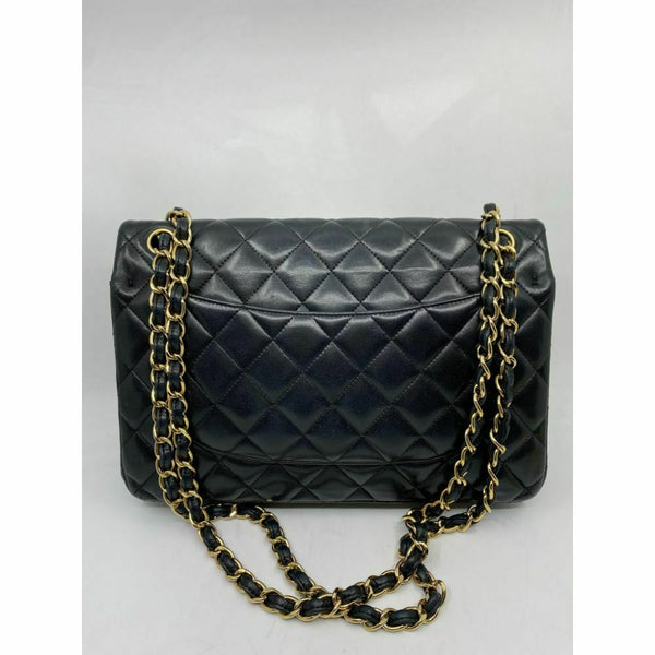 CHANEL JUMBO Black Lamb Skin Double Flap Msrp 7,000
