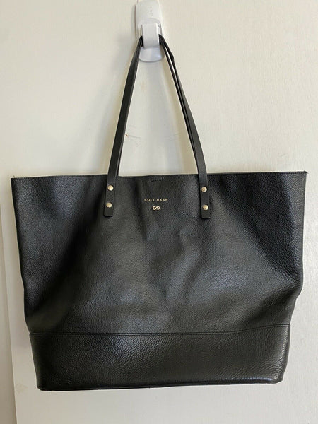 Cole Haan Black Leather Tote Bag