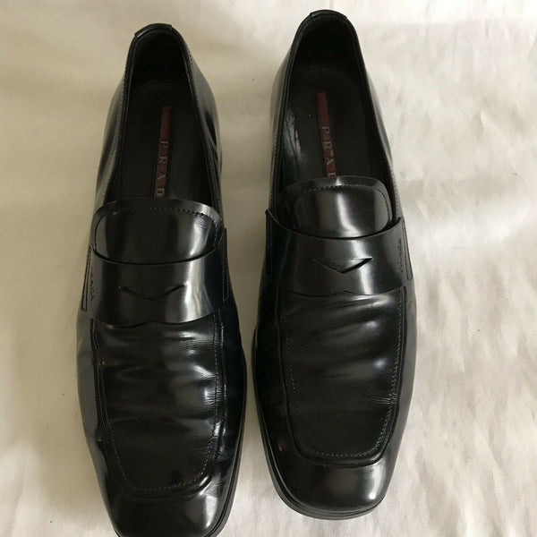 PRADA mens Leather Dress Shoes 6.5