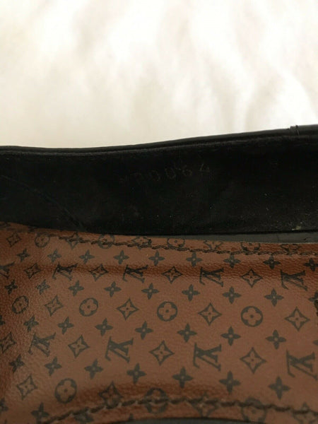 LOUIS VUITTON Womens Brown Leather Flats Size 39