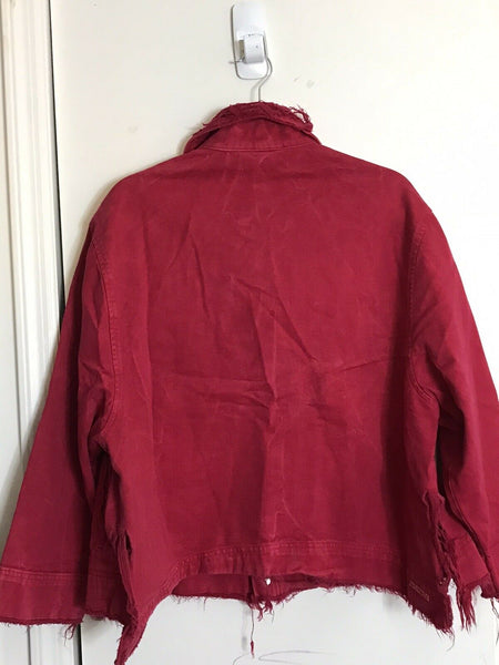 NWT! John John Lab Red Denim Jacket Small