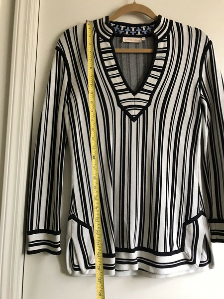 TORY BURCH Striped  Tunic top XS