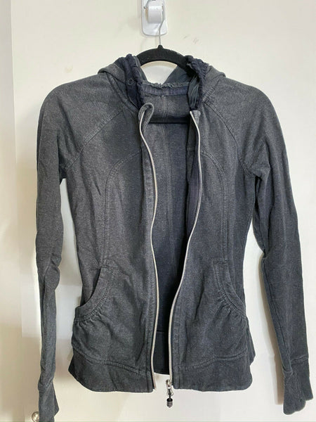 LULULEMON Womens Black Long Sleeves Stylish Hoodies Size: 4