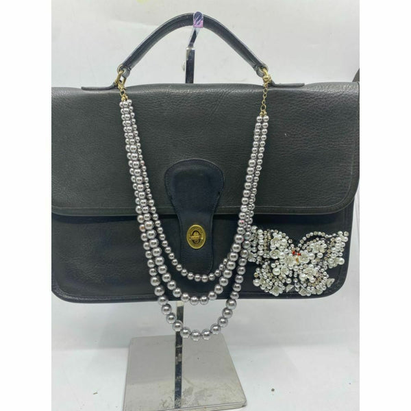 Coach Handbag Black Customized with Applique Crystal and Detachable Accessory