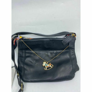 Coach Black Crossbody Bag Customized with Applique Crystal and Detachable