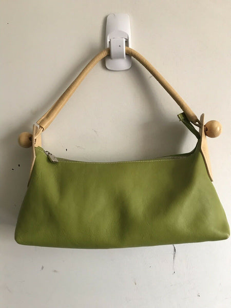 Furla Medium Green Leather Shoulder Bag
