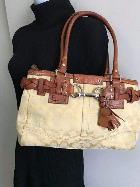 Coach Brown/Cream Shoulder Bag