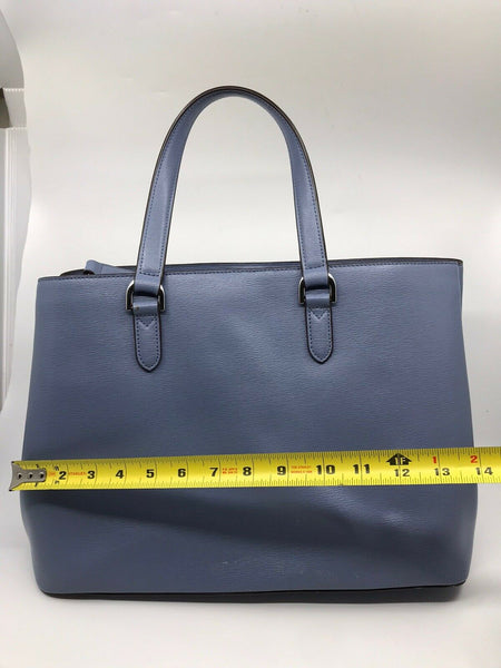 RALPH LAUREN BLUE Large  Leather Tote